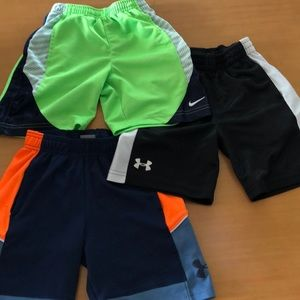 Nike and Under Armor shorts.